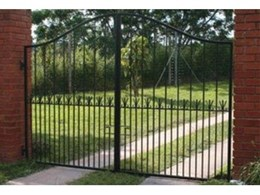 Excalibar heavy duty DIY driveway gates available from The Australian Trellis Door Company