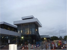 External screens by Shutterflex installed at Narangba station