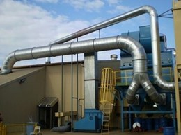 Eziduct Steel Ducting Installed for Bredero Shaw Dust Extraction System