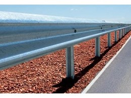 Ezy-Guard Smart steel guardrail road safety barriers approved by the NSW RTA.