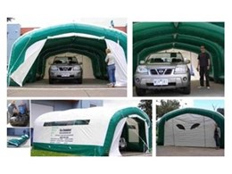 Ezy Shelter 6045 range of portable inflatable shelters from Giant Inflatables