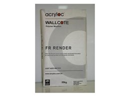 Fibre reinforced polymer modified render available from Acryloc Building Products