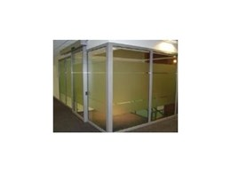 Fire rated glass sliding door from Pyropanel