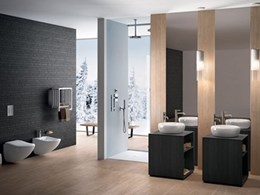 Fluid bathroom fittings collection at Salone del Mobile, Milan