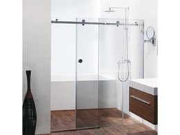 Frameless Sliding Shower System, OPTO Shower by Fethers