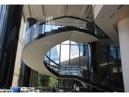 Frameless curved glass balustrade for Crown Metropol Hotel, Melbourne