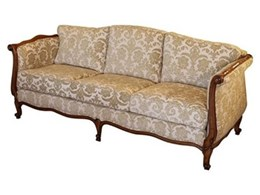French provincial Louis XV style three seater sofa available from Christophe Living