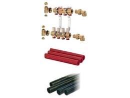 Giacomini floor coil headers available from Hydroheat Supplies
