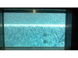 Glass pool windows from Dimension One Glass Fencing