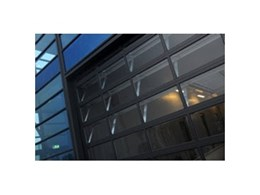Glazed panel lift doors available from Leda Security Products