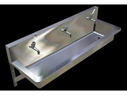 Hand wash stainless steel troughs now available from Britex