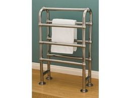 Hawthorn Hill arched electric towel warmers available from The English Tapware Company