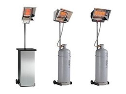 Heatray portable patio heaters from Celmec International ideal for commercial applications
