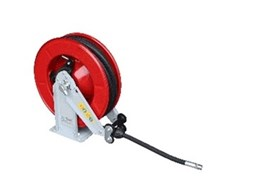 Heavy duty spring rewind hose reels from Equipco