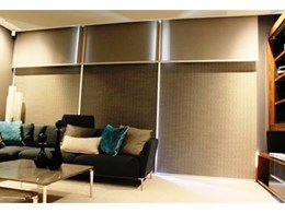 Helioscreen motorised roller blinds installed at Giorgi Exclusive Homes, Perth