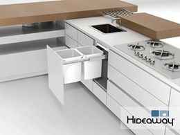 Hideaway Bins showcasing intelligent hidden storage solutions at AWISA