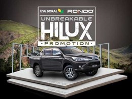 USG Boral partners with Rondo on new promotional draw with 2 Hilux Utes on offer