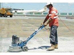 Hired concrete grinders from Kennards Concrete Care help prepare Brisbane airport for 'Superjumbo'
