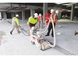 Hired concrete planer from Kennards Concrete Care removes trip hazard risk