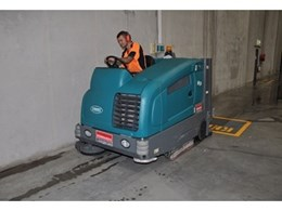 Hired floor sweeper-scrubber from Kennards Hire Concrete Care described as 'awesome'