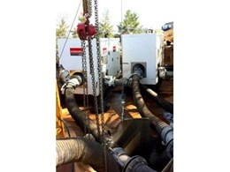 Hired pumps from Kennards Hire help out in sewer bypass operation