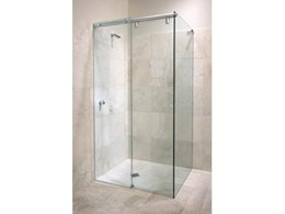 Hydroslide frameless sliding shower doors from Hydroscreen