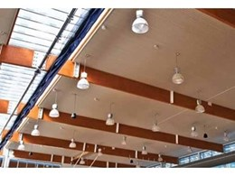 Hyne laminated timber used for rafters at Amberley RAAF Fitness Centre