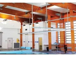 Hyne timber beams used in structural system spanning over new Brisbane City Council pools