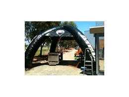 Inflatable and portable working shade shelters now available from Giant Inflatables