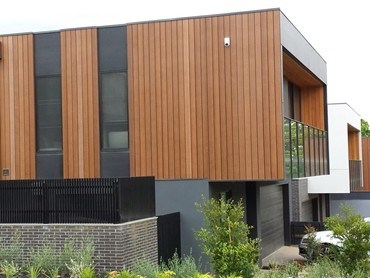 Innowood wall cladding and ceiling systems at new home - Exterior plastic cladding for houses ...