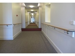 Intrim Connecta continuous dowel handrail system used in ACT aged care facility