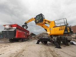 JCB launches new specialist materials handler for waste industry in Australia