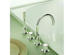 Jado Geometrie four piece hob bath set now available from Accent International