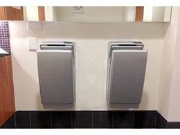 Jet Dryer electric hand dryers installed at Gold Coast Convention Centre