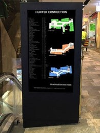 JDS digital directory board replaces static board at Sydney's Hunter Street shopping centre