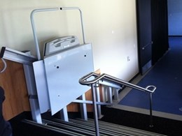 Kane Constructions installs Platform Lift Company's stair lift to allow disability access at Parramatta Stadium