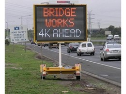 Kennards Hire Supplies Variable Message Signs for Safety on M80 Project
