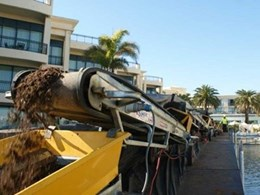Kennards Hire conveyor belts help move 190 tonnes of soil and palm trees for arborist