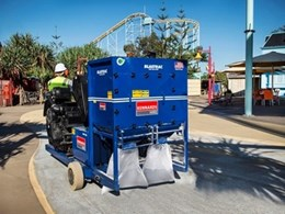 Kennards Hire's shotblaster helps prepare surface on Dreamworld pathways