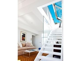 Kennovations designs operable glass roof for Sydney terrace apartment