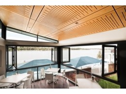 Key-Ply acoustic panels from Keystone Linings used in Cove Cafe, NSW
