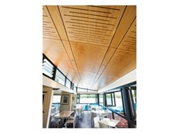 Key-Ply acoustic panels from Keystone Linings used in The Cove Café