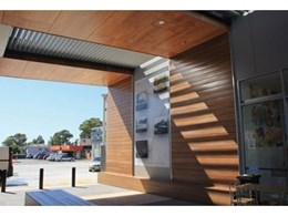 Kingwood exterior cladding and outdoor furniture at Fairfield Heights supermarket