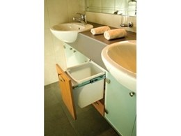 Kitchen King offers Hideaway bathroom bins for practical bathroom storage solutions