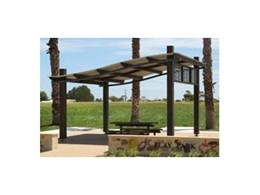 Landmark Products' expertise allows landscape architects to design shelters