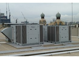 Large air-conditioning units installed on shopping centre roof using Con-form roof platforms