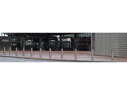 Leda-Vannaclip's Slimline stainless steel bollards at Esplande Station, Perth