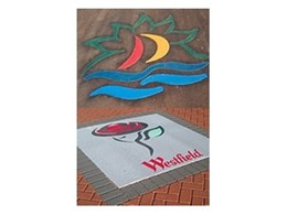 LogoTherm thermoplastic logo paving available from MPS Paving Systems Australia