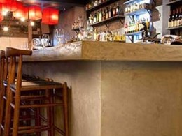 Long bar at Japanese restaurant makes brilliant use of UBIQ's INEX>RENDERBOARD