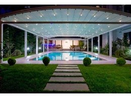 Luna curved freestanding retractable pergola systems from GS World
